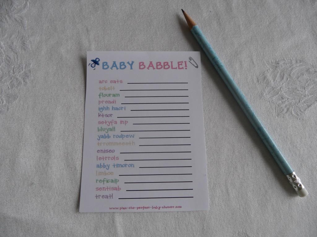 Baby Shower Game With Printable Template