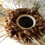 Chicken Dukkah Skewers with Balsamic-Honey Glaze