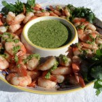 Grilled Shrimp with Asian Pesto