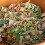 Chinese Chicken Salad with Peanut Vinaigrette