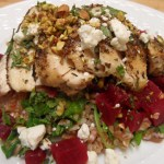 Za'atar Chicken with Farro, Beets, and Mint