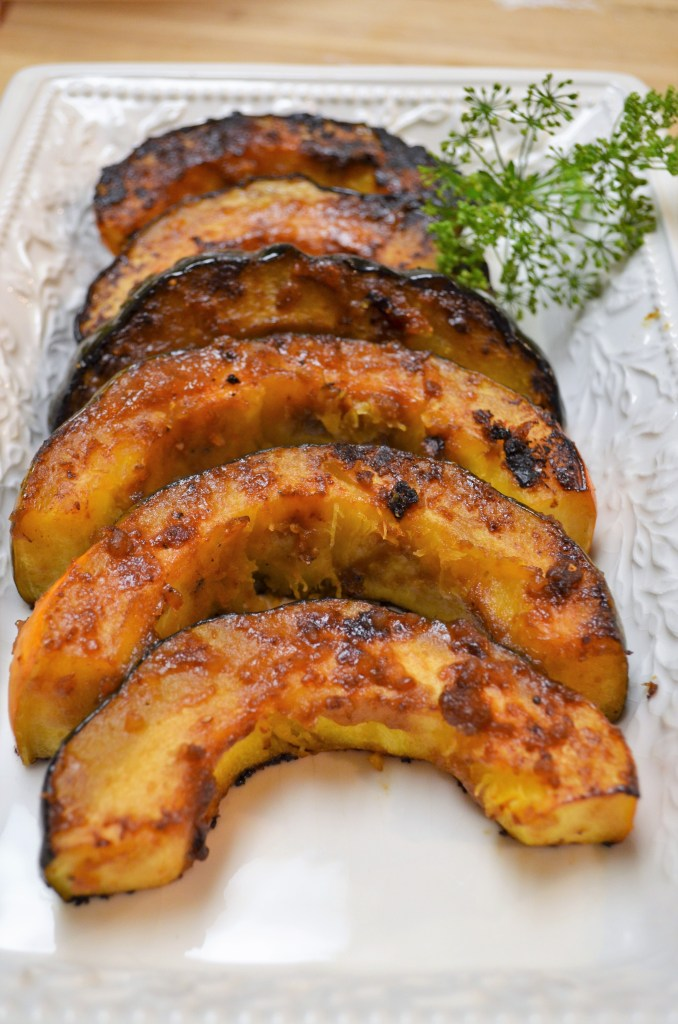 Roasted Acorn Squash with Miso Glaze