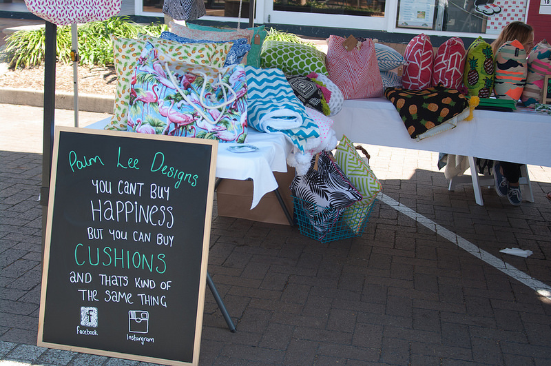 Palm Lee Designs Cushions at the Cleveland Markets, QLD Australia