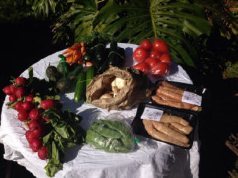 Fresh produce purchased at the Cleveland QLD Markets, Australia