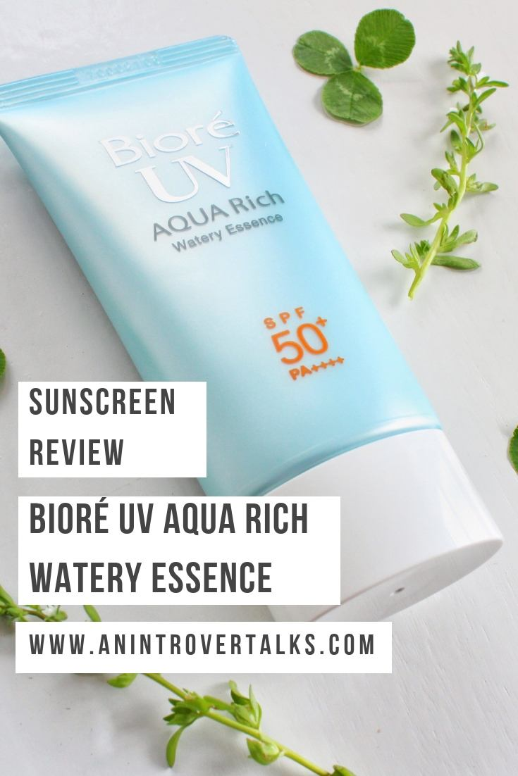 Biore UV Aqua Rich Watery Essence Sunscreen Review