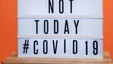 صورة توضح مقاومة فيروس كورونا عن طريق كتابة جملة ليس اليوم فيروس كوفيد 19