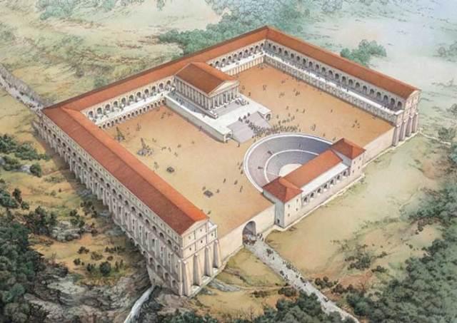 Tivoli-ricostruzione-del-santuario-di-Ercole-Vincitore-ricostruzione