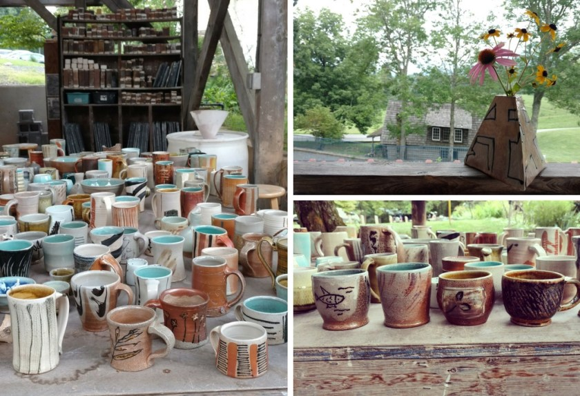 A plethora of mugs from the first salt firing. Lots of hits and some misses!
