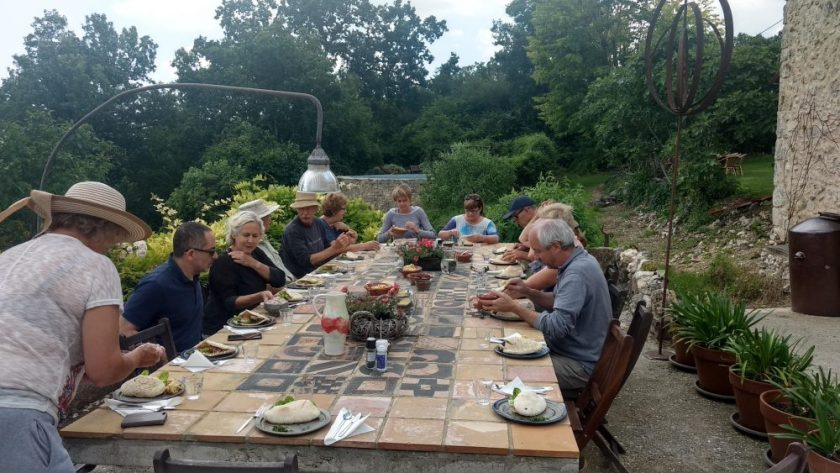 In France, it was our daily routine to get together for our evening apero and meal where we exchanged stories and relaxed after a day's work.