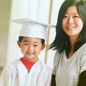 pic of E with Mrs Liu at preppy K graduation