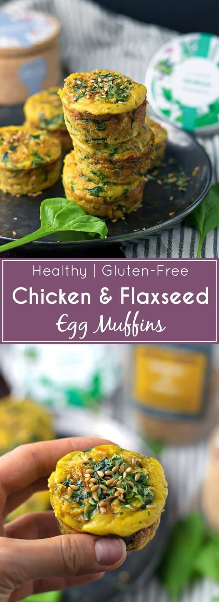 Chicken Flaxseed Egg Muffins