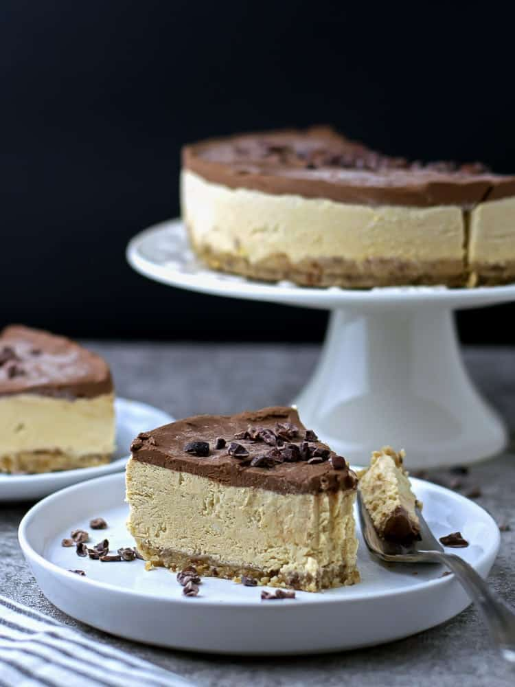 Paleo Pumpkin Chocolate Cheesecake