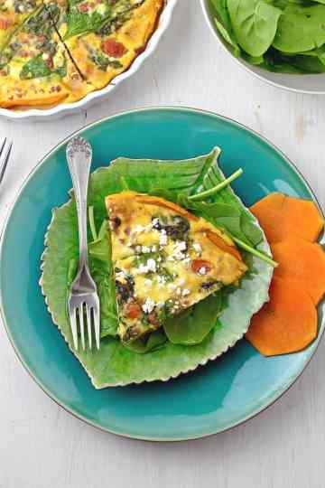 Prosciutto Spinach Quiche with Butternut Crust