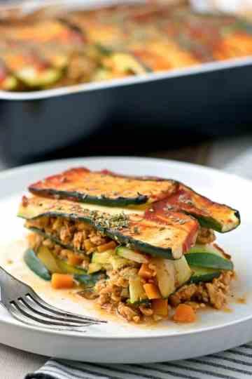 Low Carb Zuchinni Lasagna
