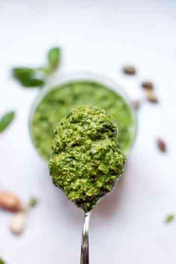 Pesto Espinafres e Pistachios
