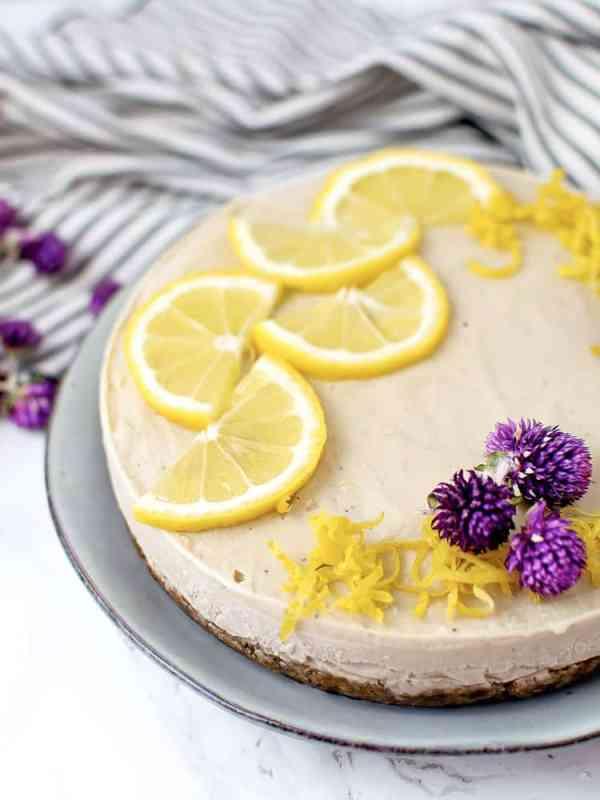 Cheesecake Vegan de Biomassa de banana