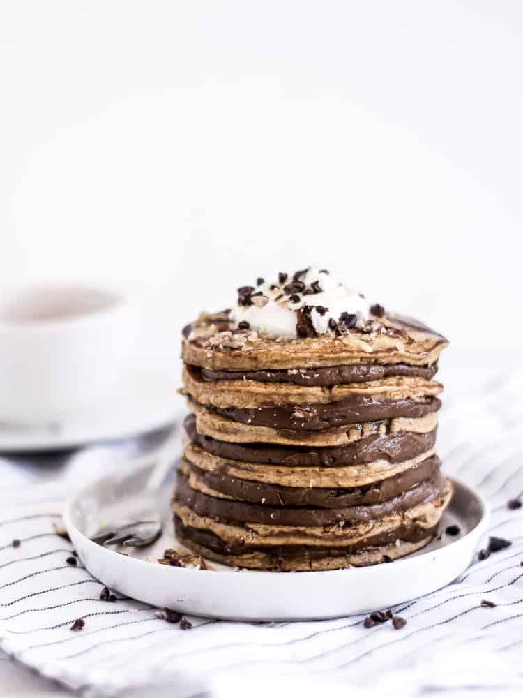 Panquecas abóbora com recheio de chocolate