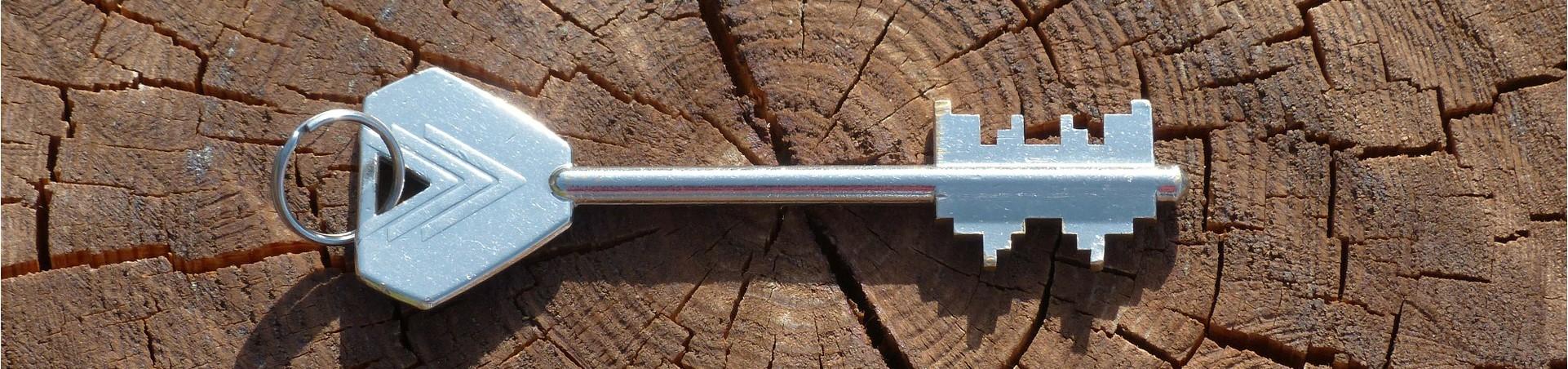 Key on wood