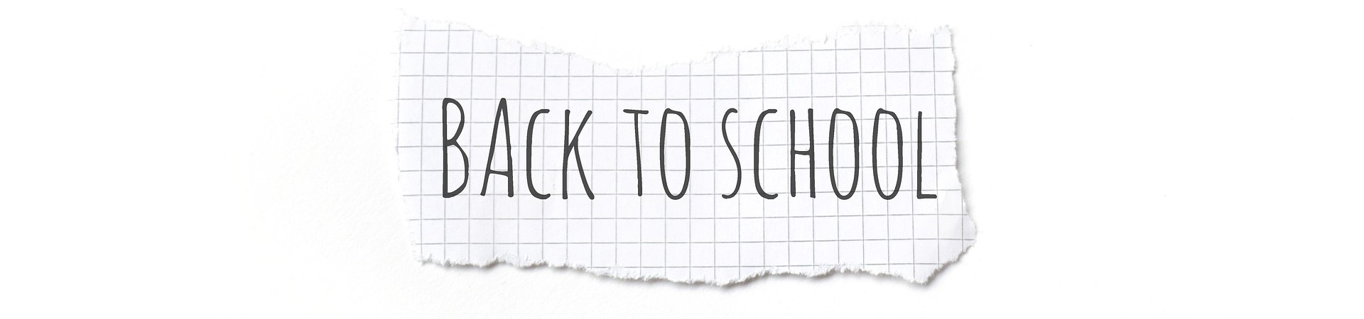 Back to School on a piece of paper