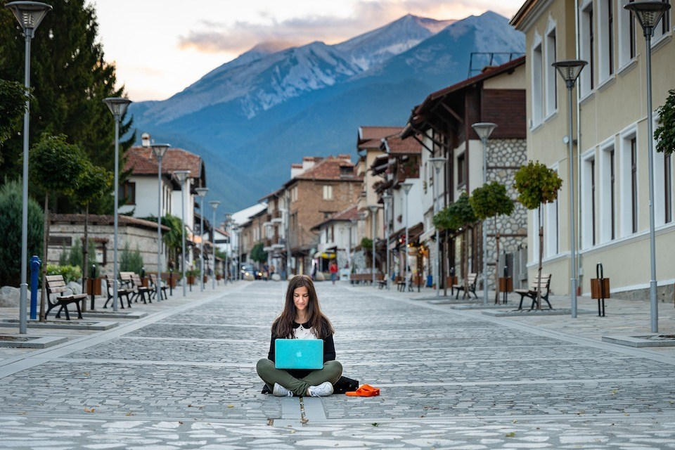 woman working in the street