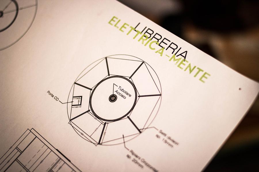 Uno dei progetti di Collaboratorio. Una libreria dal design innovativo.