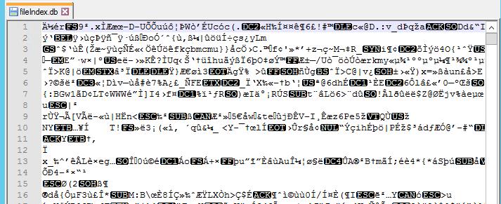 Ulterius fileIndex.db output
