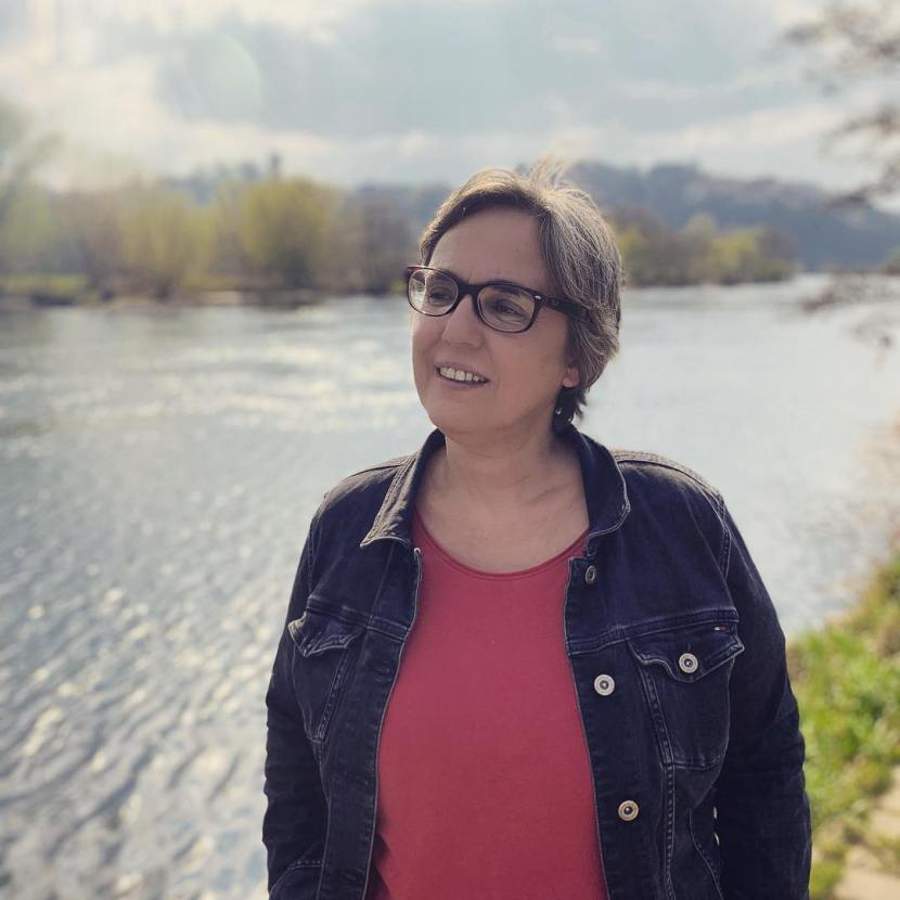 Anja Butschkau an der Ruhr