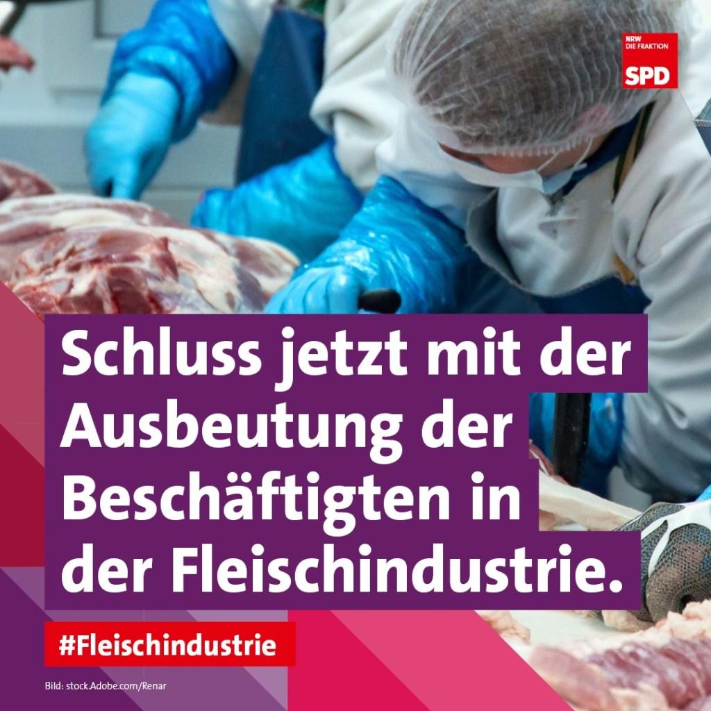 Schluss jetzt mit der Ausbeutung der Beschäftigten in der Fleischindustrie Tönnies