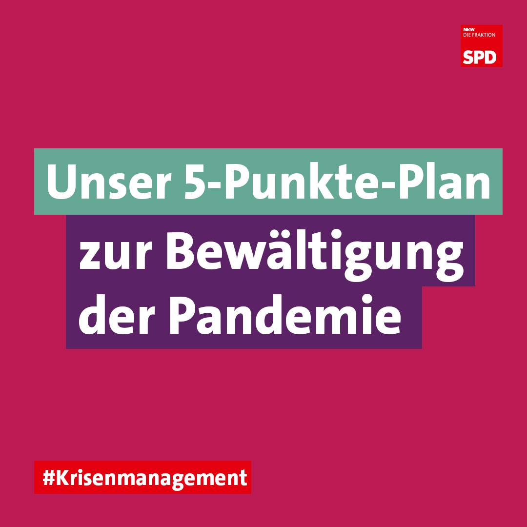 5-Punkte-Plan Bewältigung Corona Pandemie