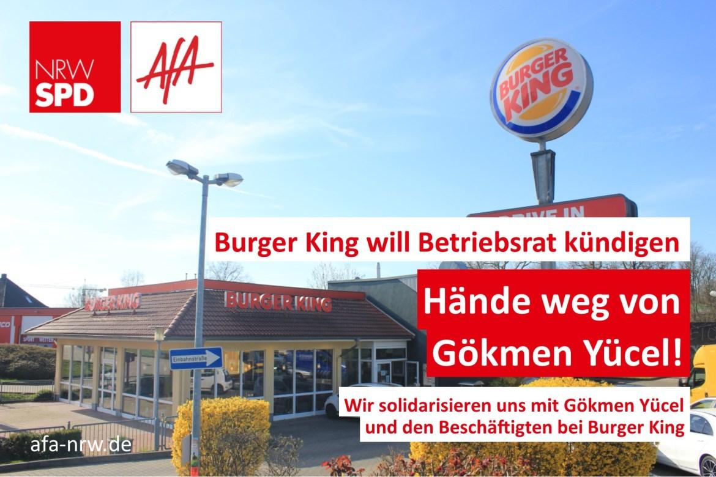 Anja Butschkau Hände weg von Betriebsrat Gökmen Yücel NGG Burger King