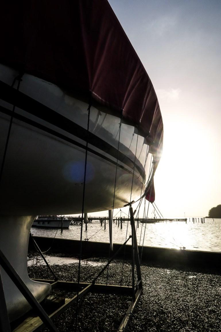 Vintersol over vordingborg havn