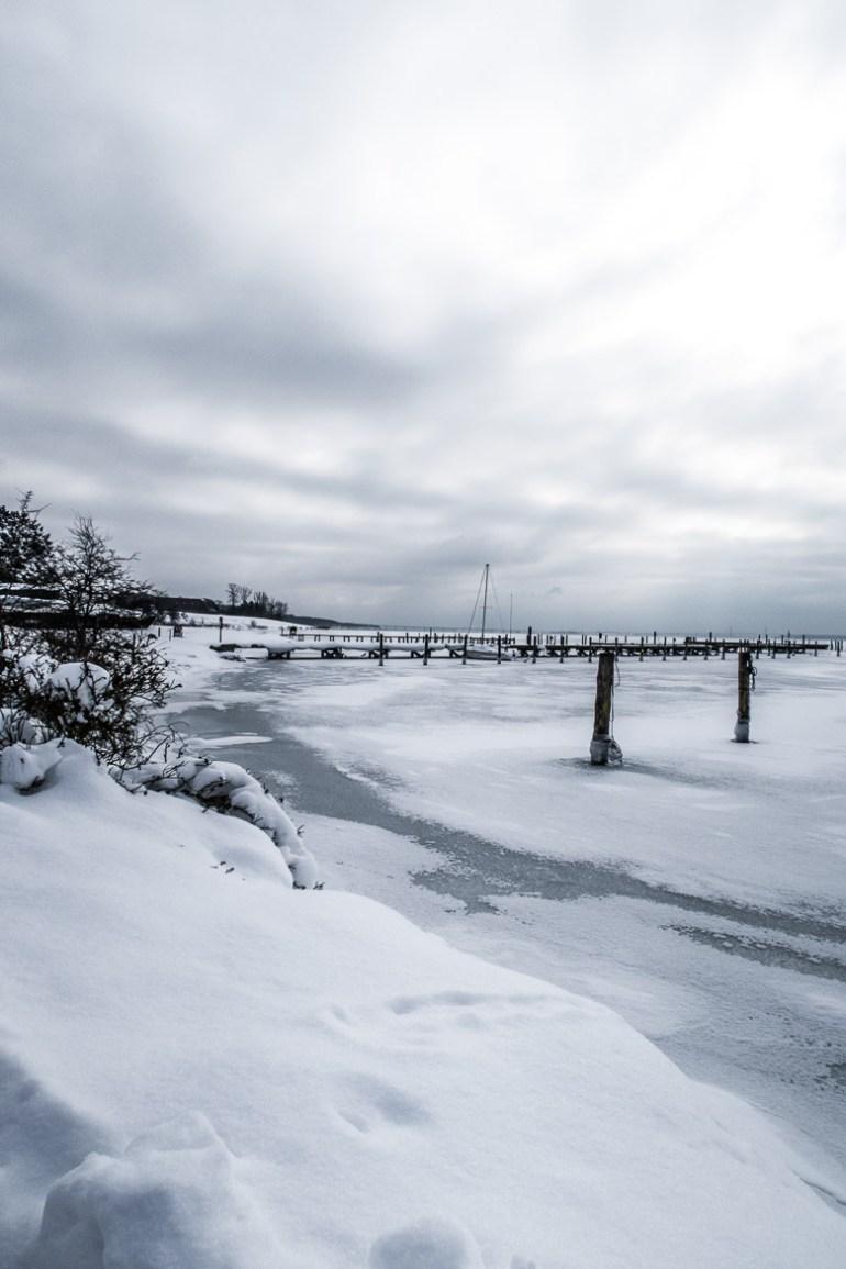 sibirisk kulde i marts 2018 Vordingborg Havn