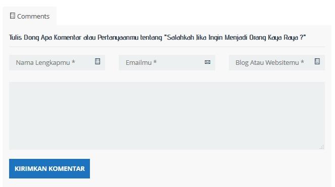 Cara Mengedit Kolom Komentar Leave A Reply WordPress