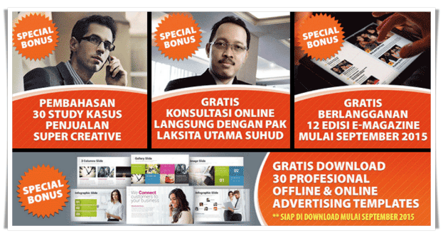 Bonus Pembelian Buku Marketing Pak Laksita Utama Suhud