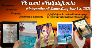 #fistfulofbooks, Anju Gattani, Barbara Conrey, Linda Rosen, Sherri Leimkuhler, facebook, international women's day