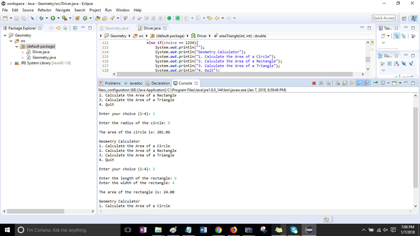 Module 08 Post-Assessment Part 2 Geometry Calculator Solved - ankitcodinghub