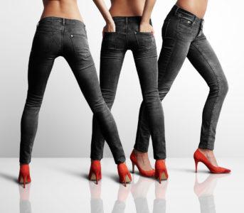 skinny jeans heels