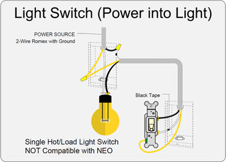single light switch wiring diagram 2005 jeep liberty ignition ankuoo of hot load that does not work with neo