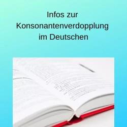 Infos zur Konsonantenverdopplung im Deutschen