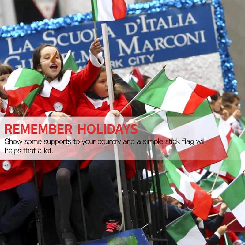 Italy Stick Flag