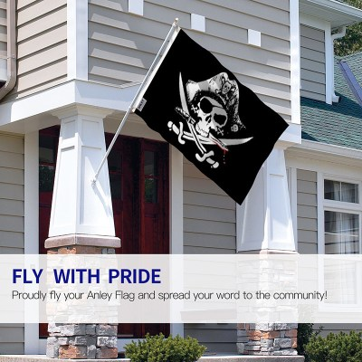 Skull Cross Sabres Pirate Flag