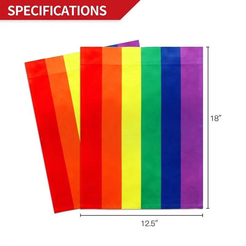 Rainbow Garden Flag