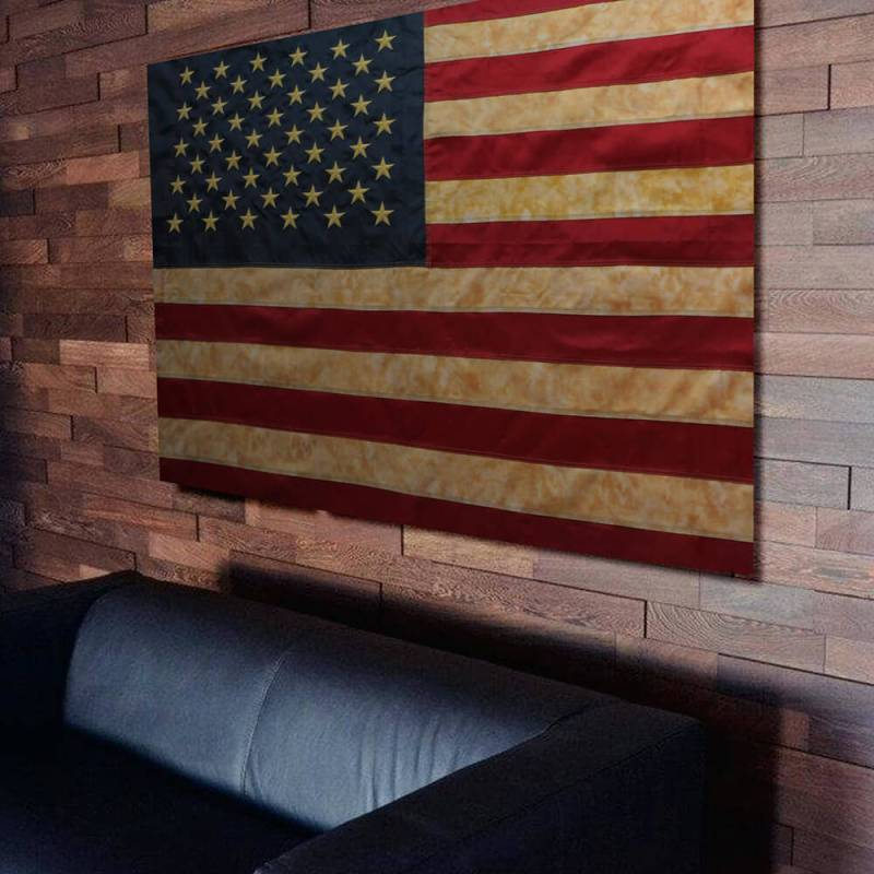 Tea Stained USA Nylon Flag