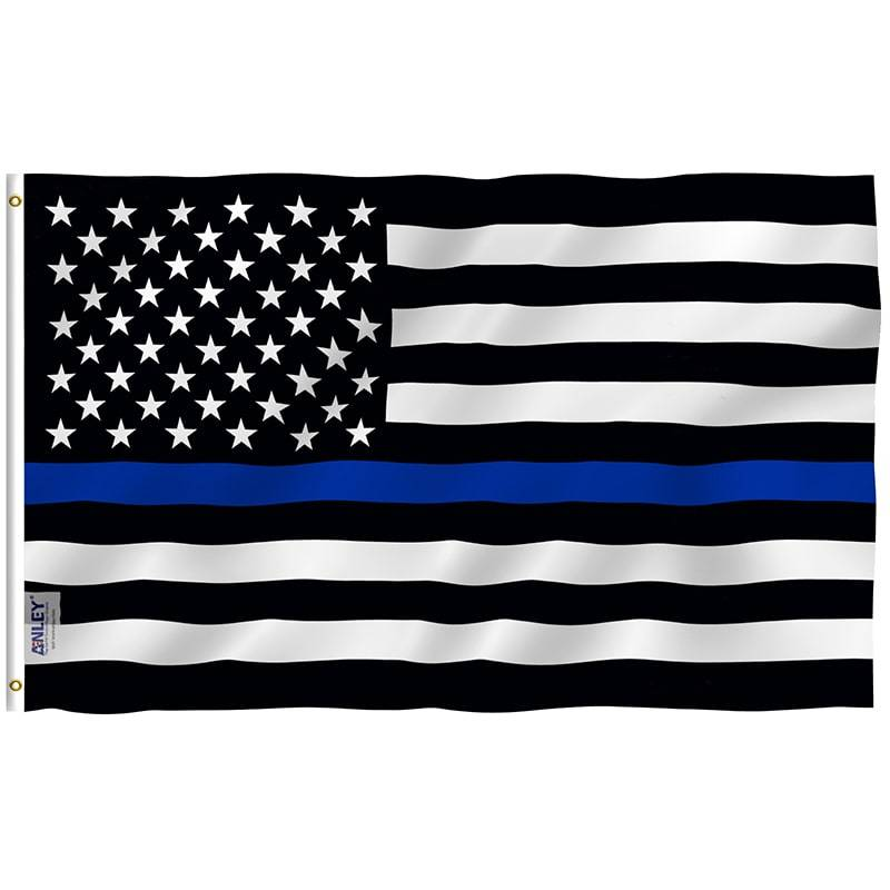 thin blue line us flag