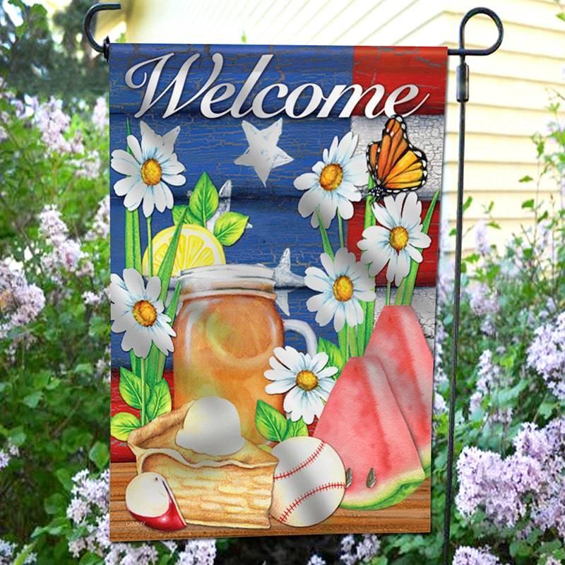 US Summer garden flag