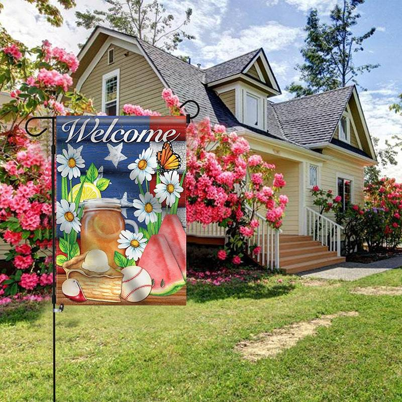 US Summer garden flag