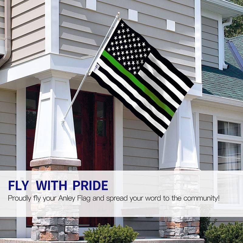 Thin green line us flag
