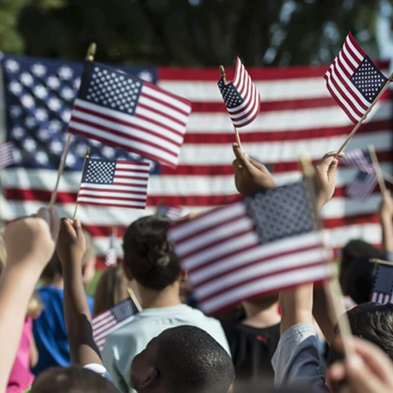 USA Wooden Stick Flag