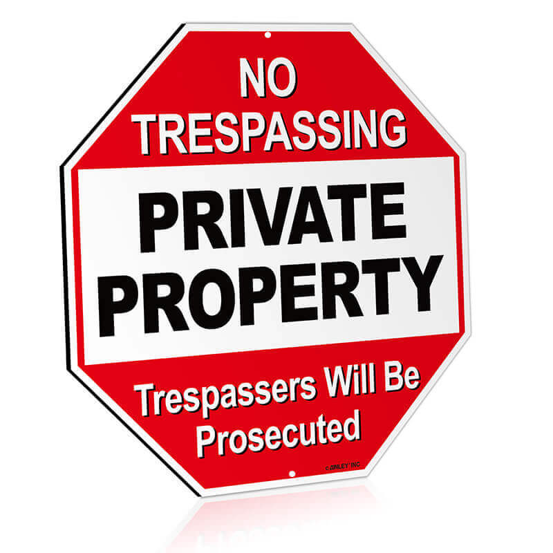 Private property metal sign