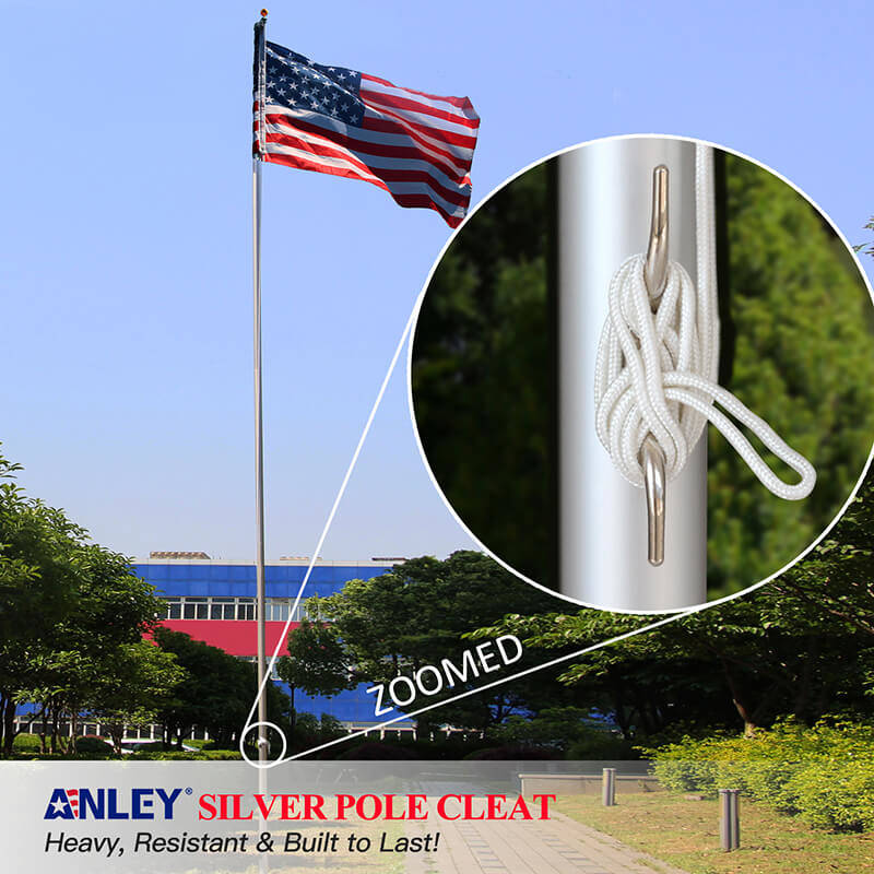 Flagpole Silver Cleat